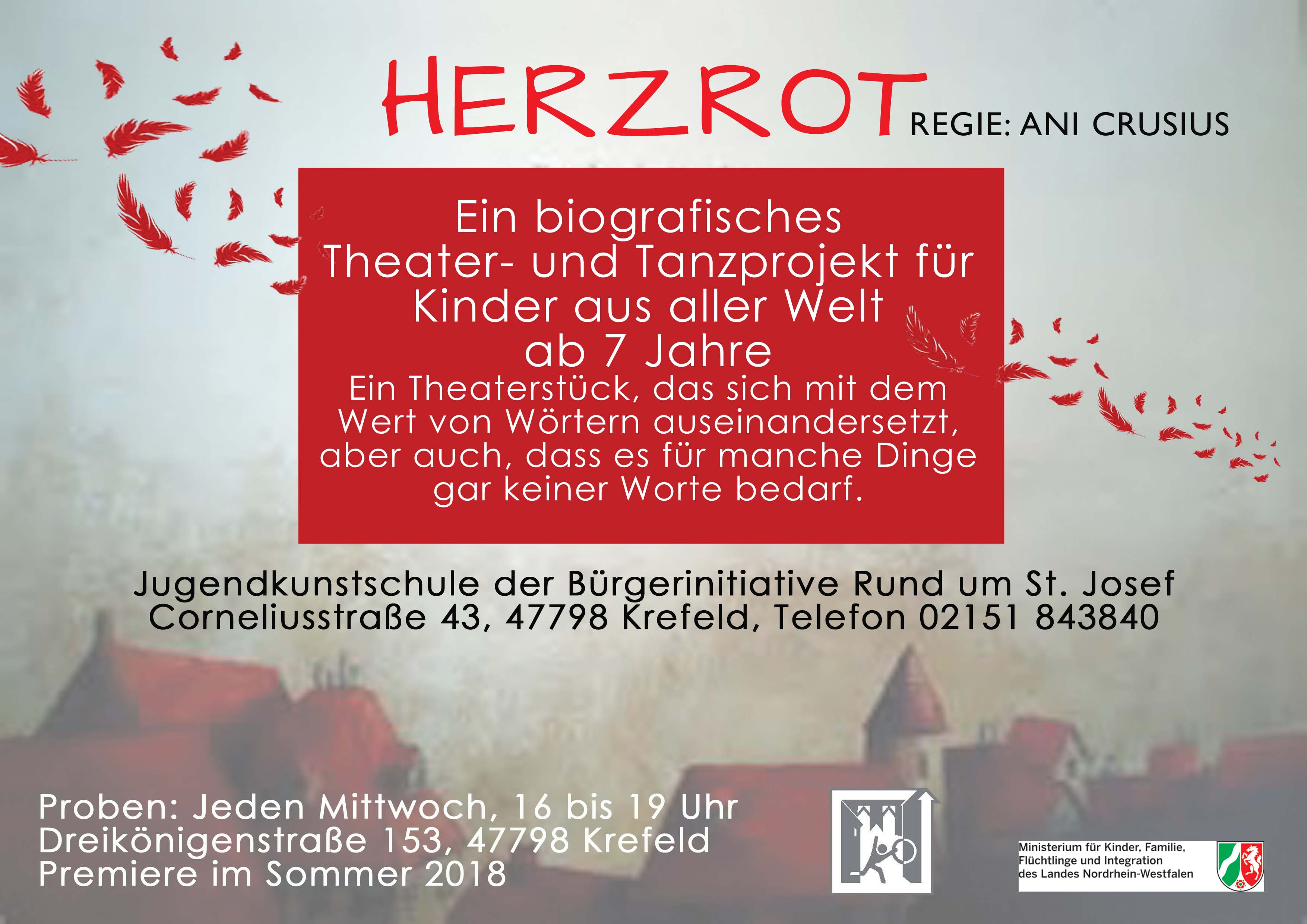 HERZROT. Theater